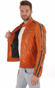 Blouson Motard Cardiff Orange