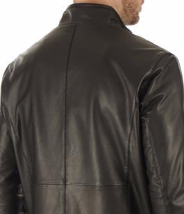 Blouson Monaco cuir noir Smarty