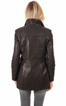 Veste Cuir Finition Bubble