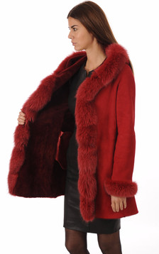 Peau lainée merinos et renard
