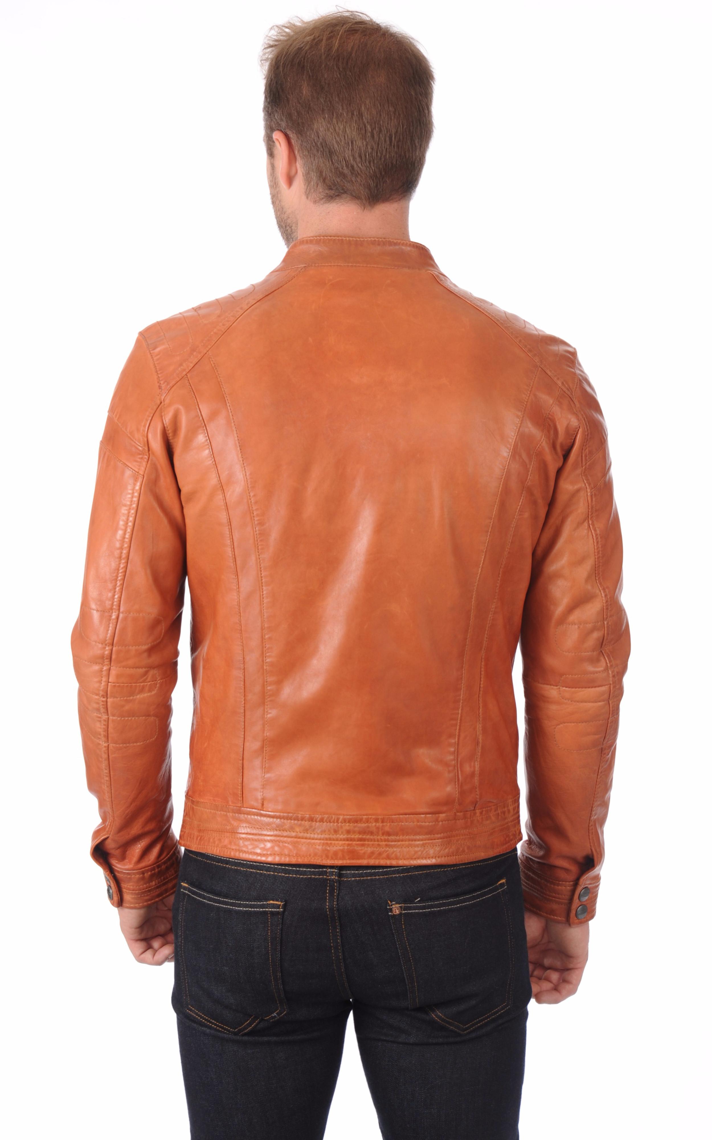 Blouson Motard Orange Daytona 73