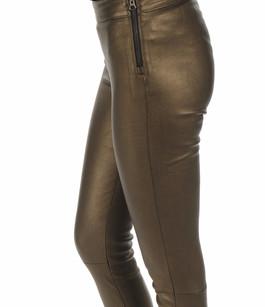 Legging cuir agneau bronze Mackage