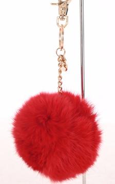 Porte-clé lapin rouge