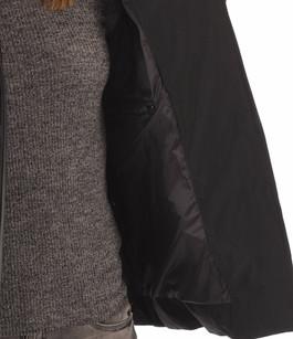 Doudoune Cintrée Noire Large Fourrure Oakwood
