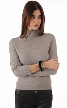 Bracelet Fantaisie Cuir & Vison Noir