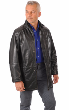 Veste confort cuir chaud1