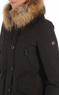 Parka Polar Noire Fourrure Blonde n°8
