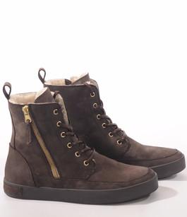 Boots cuir fourrées mouton marron Blackstone