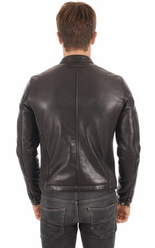 Blouson Style Motard Noir