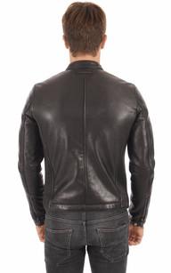 Blouson Style Motard Noir Redskins