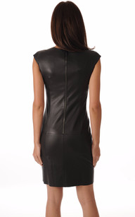 Robe Cuir Noir Stretch