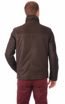 Blouson Long Nubuck Marron