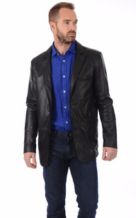 Veste Cuir Noir Long Canadienne La 34 Blazer Oakwood EY45xfqq