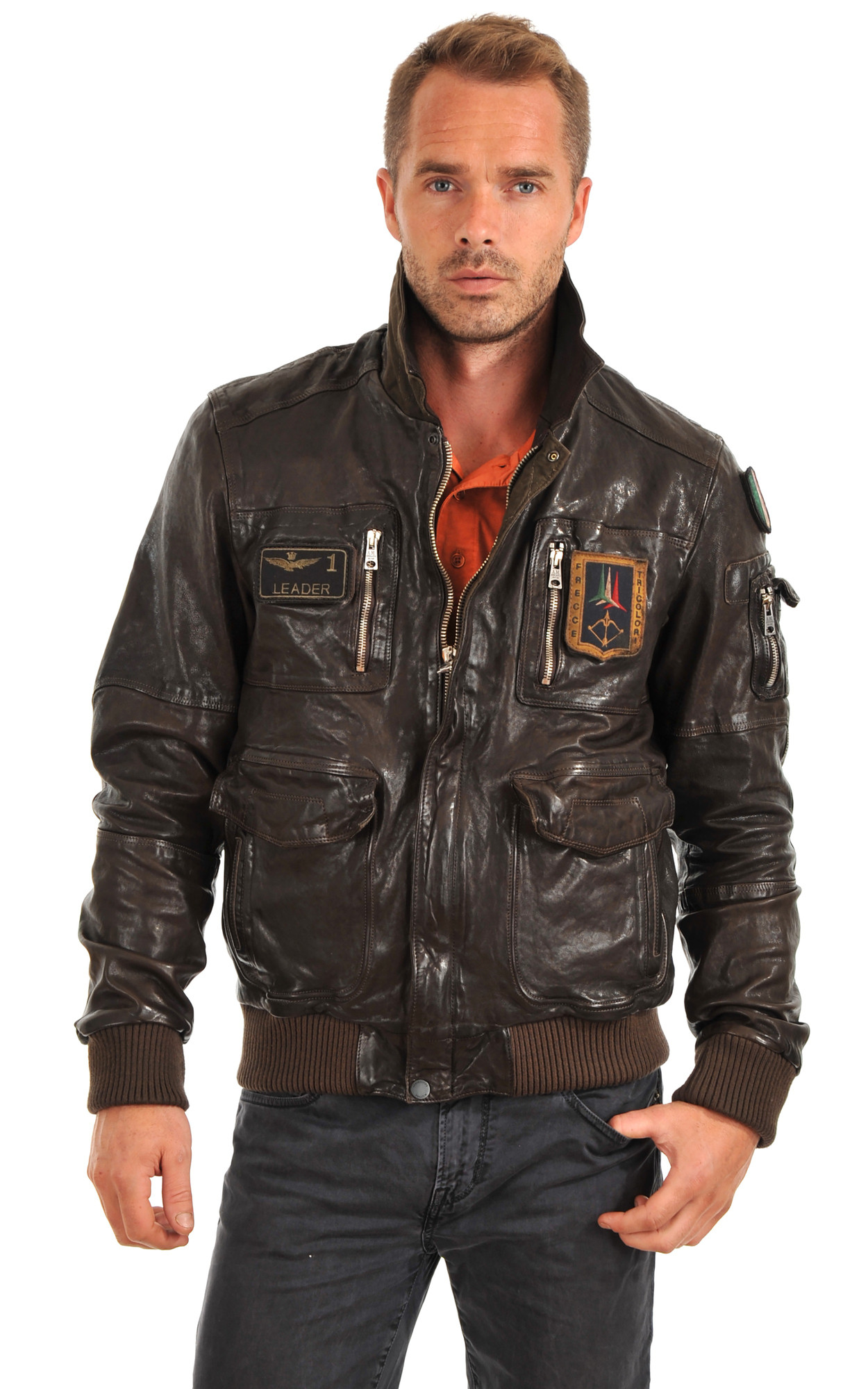 Blouson Cuir Aviation Italienne