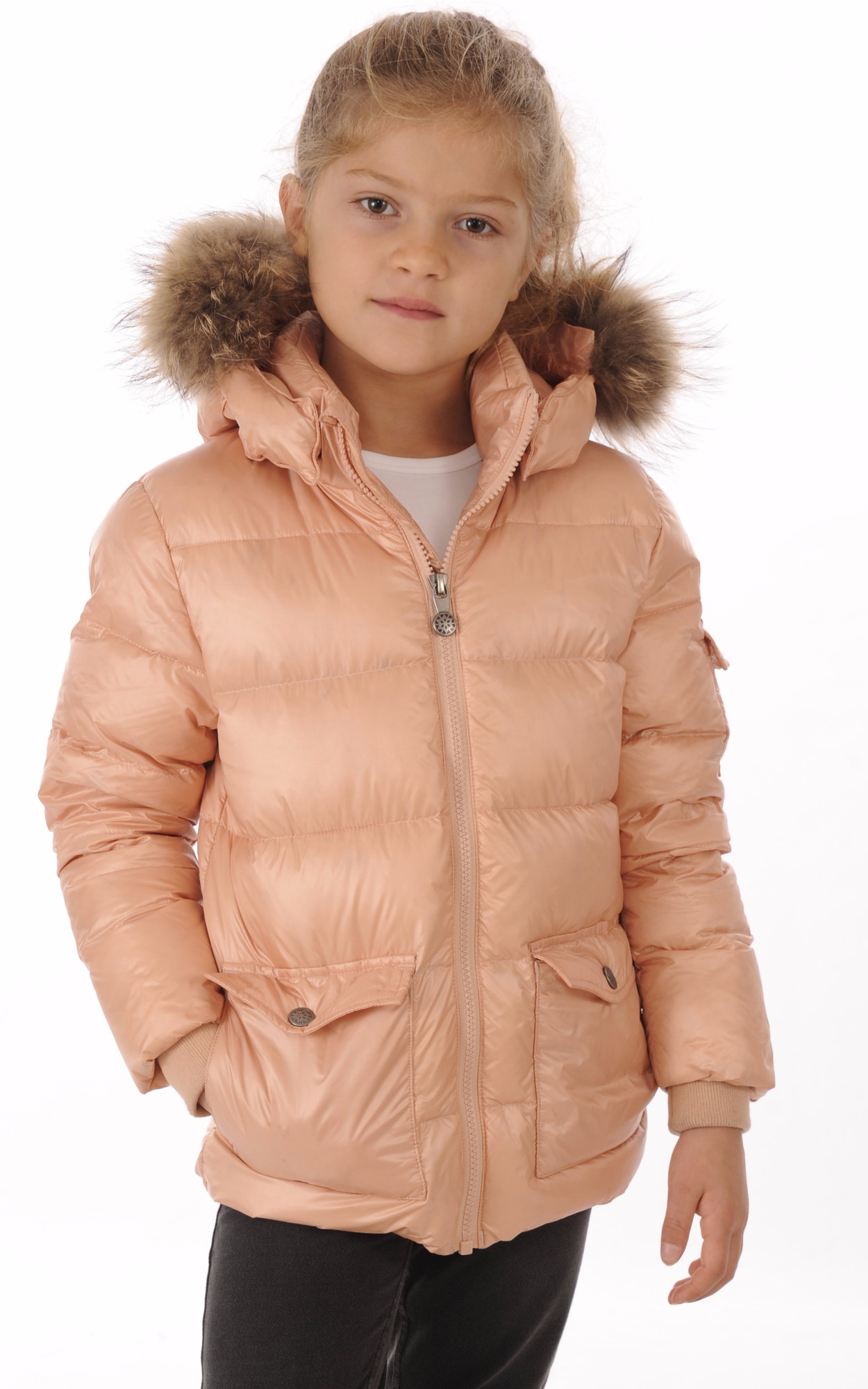 Doudoune Authentic Jacket Rose Poudré Fille1