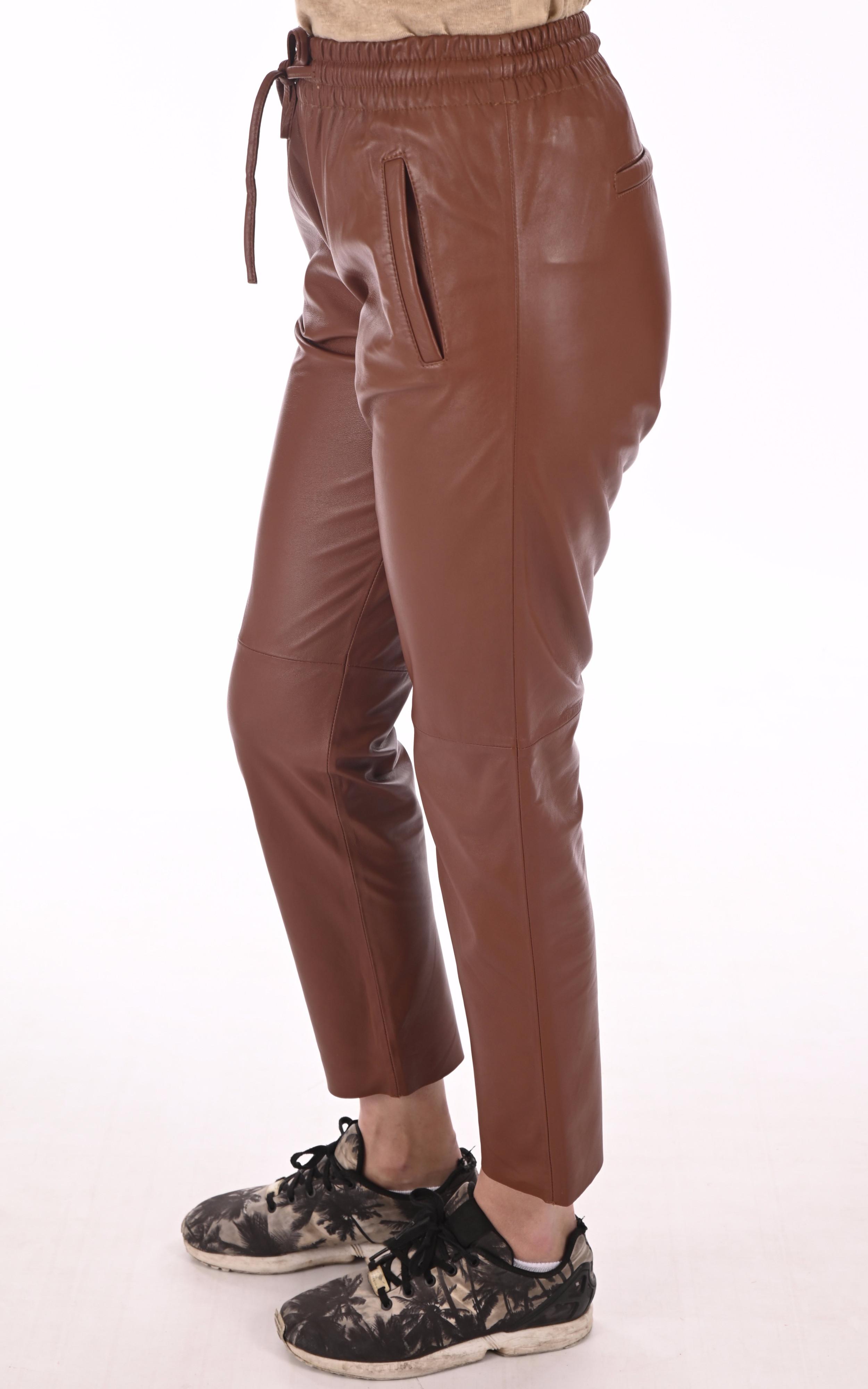 Pantalon jogpant cuir fauve Oakwood
