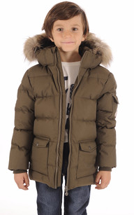 Doudoune Authentic Jacket Boy Kaki1