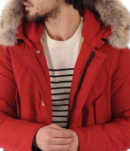 Parka Avec Fourrure Homme Artic Rouge Woolrich