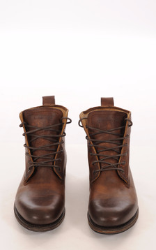Boots Cuir Marron Vieilli Mouton1