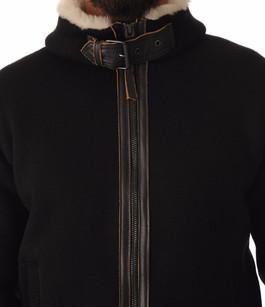 Pull Zippé Noir doublé Polaire Schott