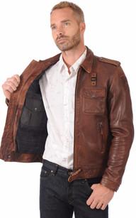 La veste cuir homme