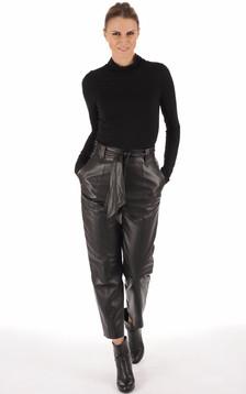 Pantalon chino agneau noir