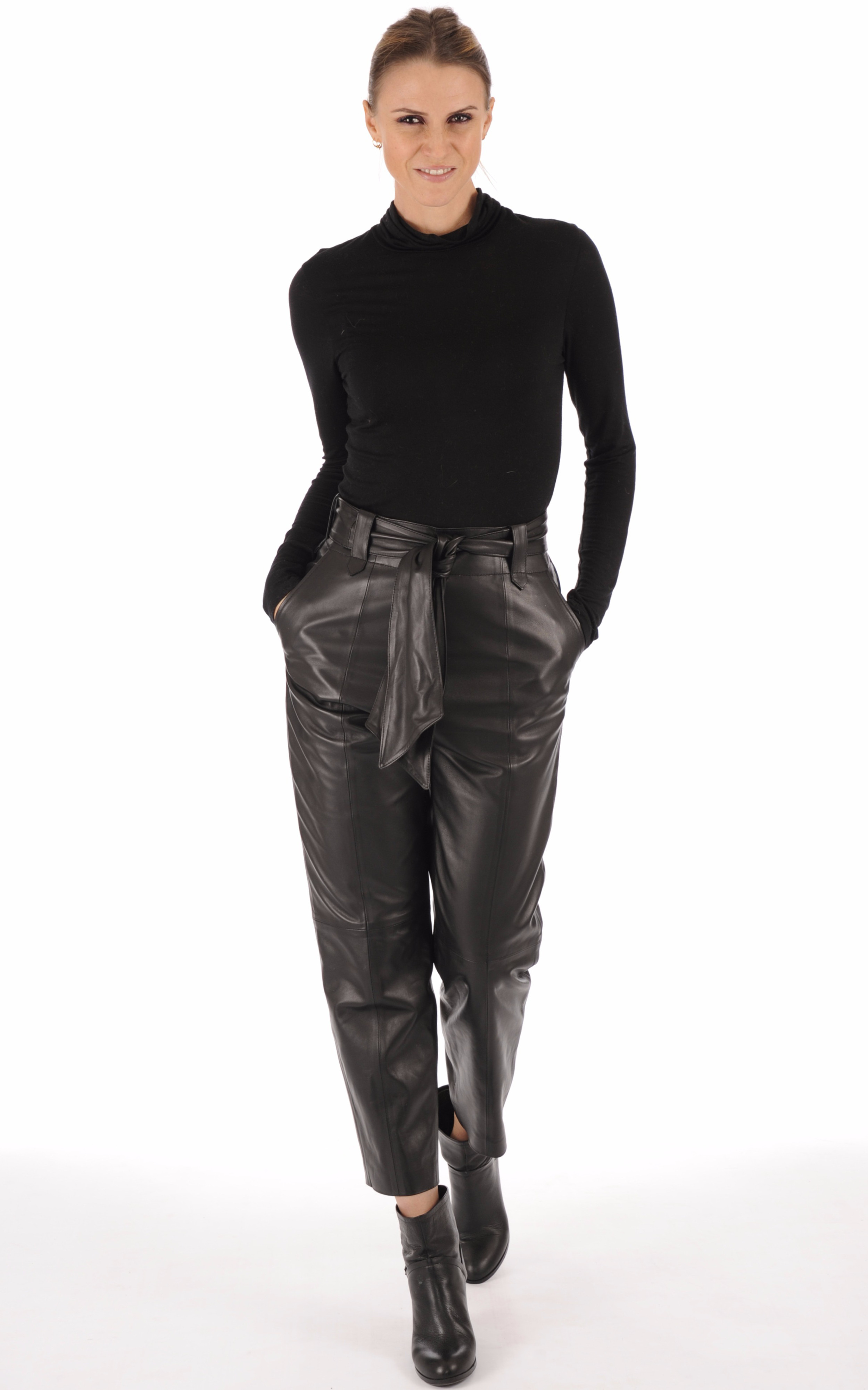 Pantalon chino agneau noir La Canadienne