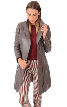 Trench Cuir Femme1