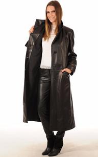 Manteau Long Cuir Femme Noir La Canadienne La Canadienne