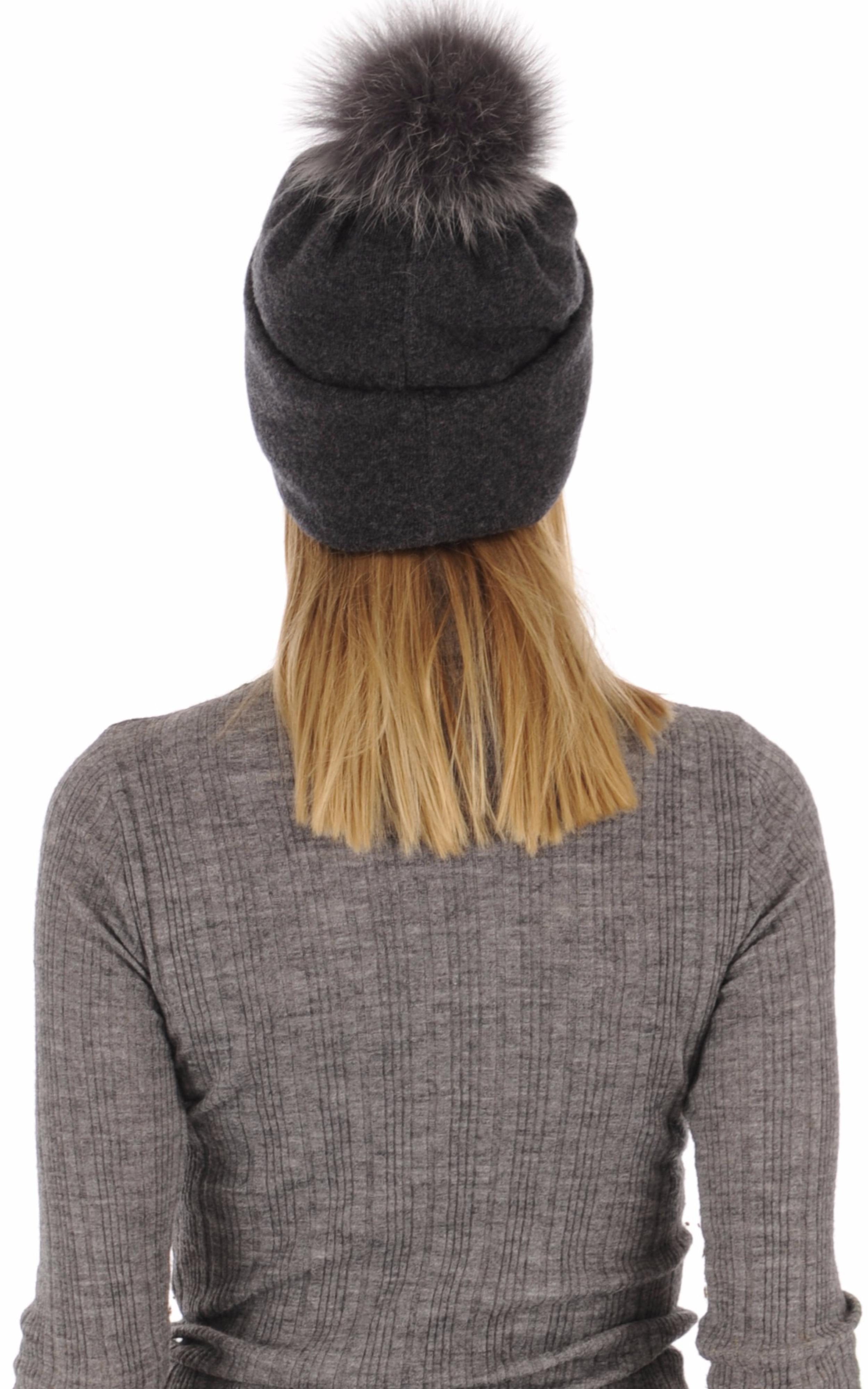 Bonnet en laine merino gris Tsanikidis