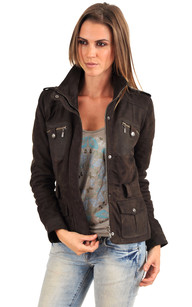 Veste Betty Nubuck Marron1