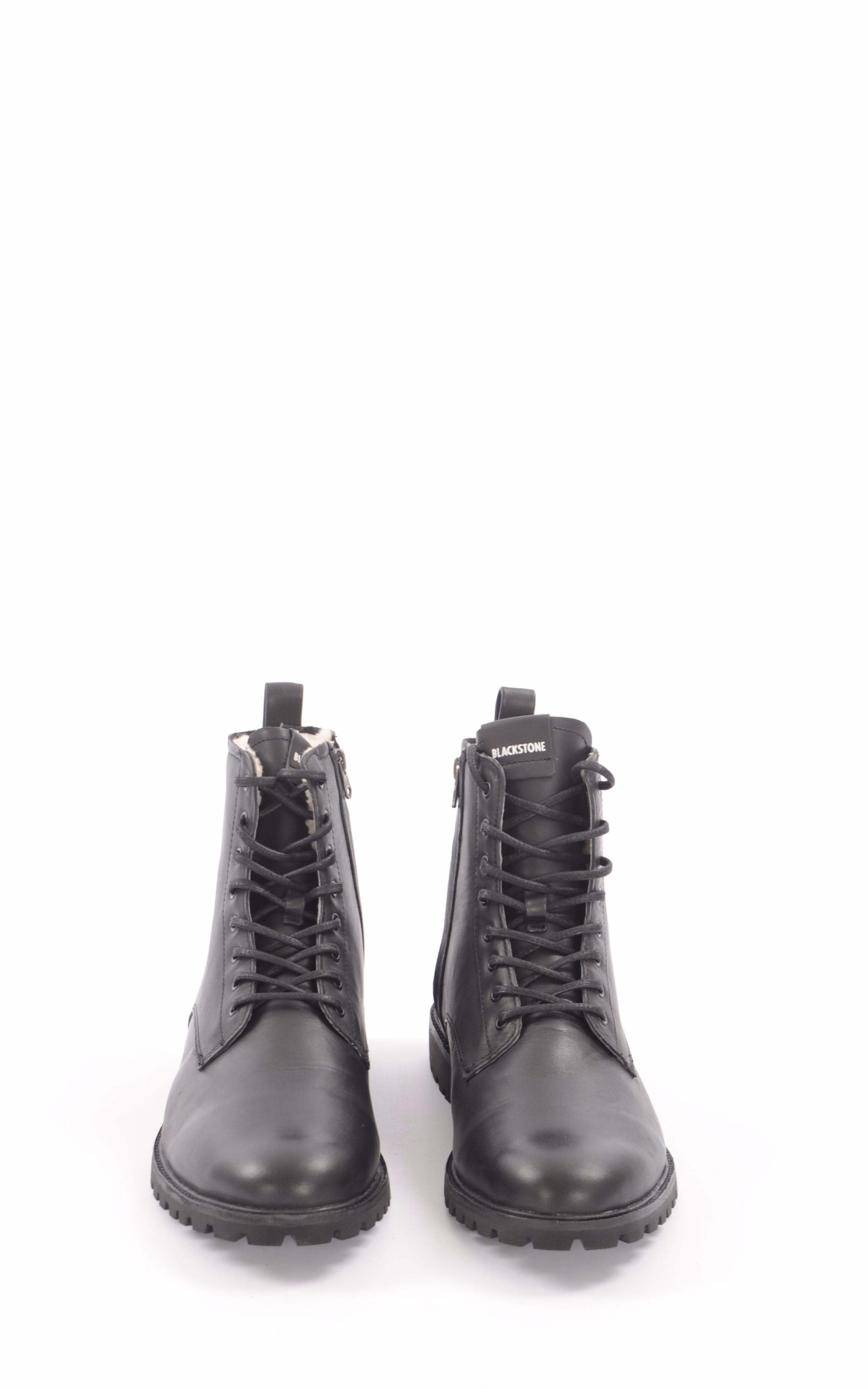 Boots Cuir Noir Fourrées Mouton Blackstone