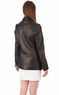 Veste Cuir Femme Coupe Blazer