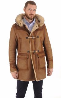 Duffle-Coat en Mouton Patiné