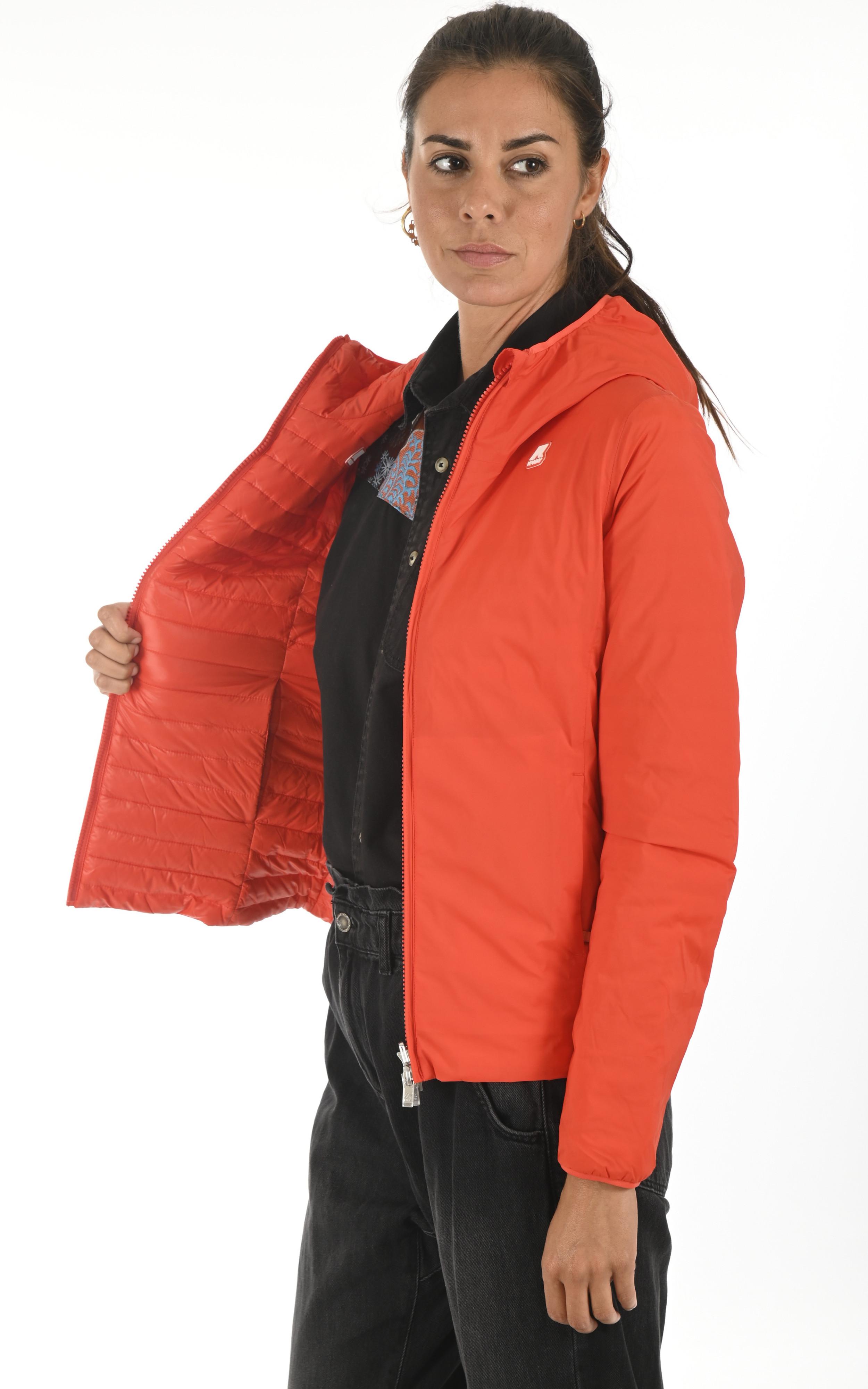 Doudoune réversible Lily orange K-Way