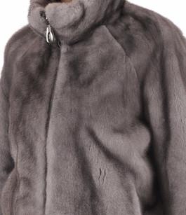 Blouson vison gris Manakas