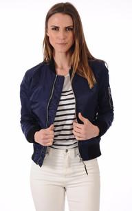 Blouson en daim bleu marine femme