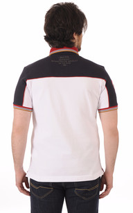 Polo Blanc Patchs
