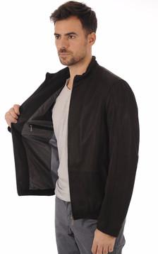Blouson Cuir Noir Coupe Confortable