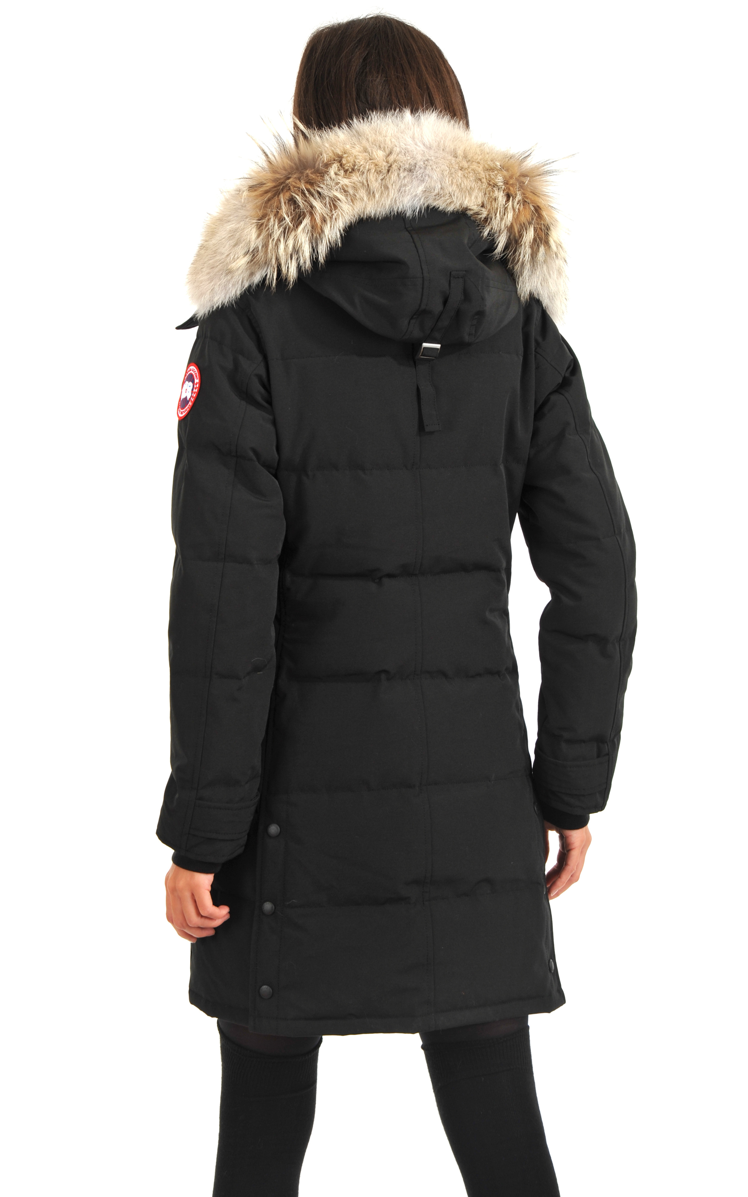 parka shelburne noir canada goose la canadienne doudoune parka textile noir. Black Bedroom Furniture Sets. Home Design Ideas