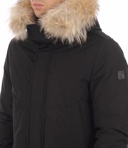 Doudoune Polar avec fourrure noire Woolrich