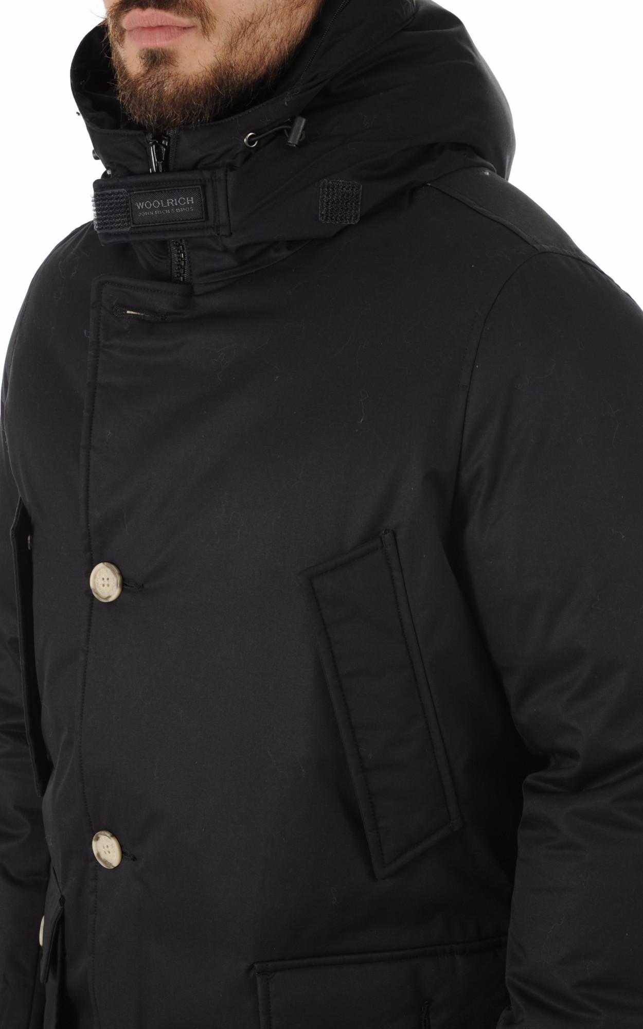Parka Laminated Coton Noir Woolrich