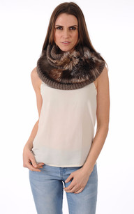 Snood Maille & Fourrure1