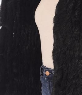 Gilet Fourrure Lapin Noir Magali Oakwood