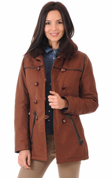 Authentique Canadienne Marron Femme