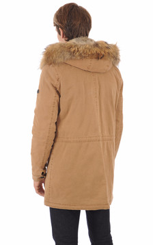 Parka army camel homme