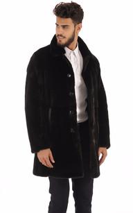Manteau en Vison Finlandais Noir Homme1