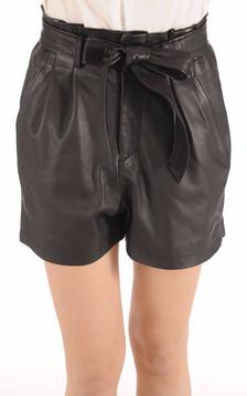 Short Cuir Femme noir1
