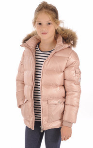 Doudoune Authentic Jacket Shiny Girl Rose