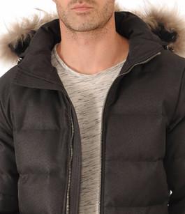 Doudoune Authentic Jacket Drill Grise Homme Pyrenex